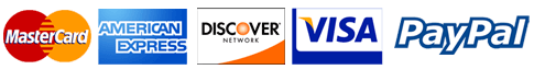 We accept MasterCard, Discover, Visa, American Express and PayPal